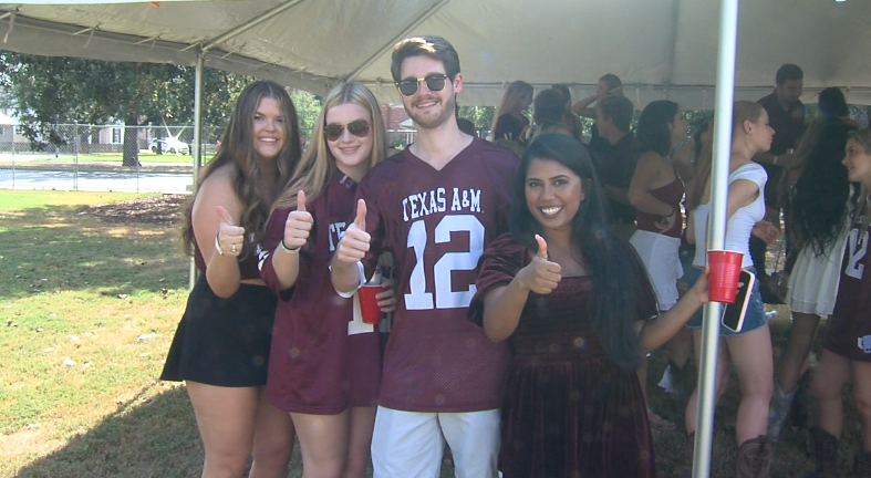 Aggies tailgated outside Kyle Field in pride ready to cheer their team on.PNG