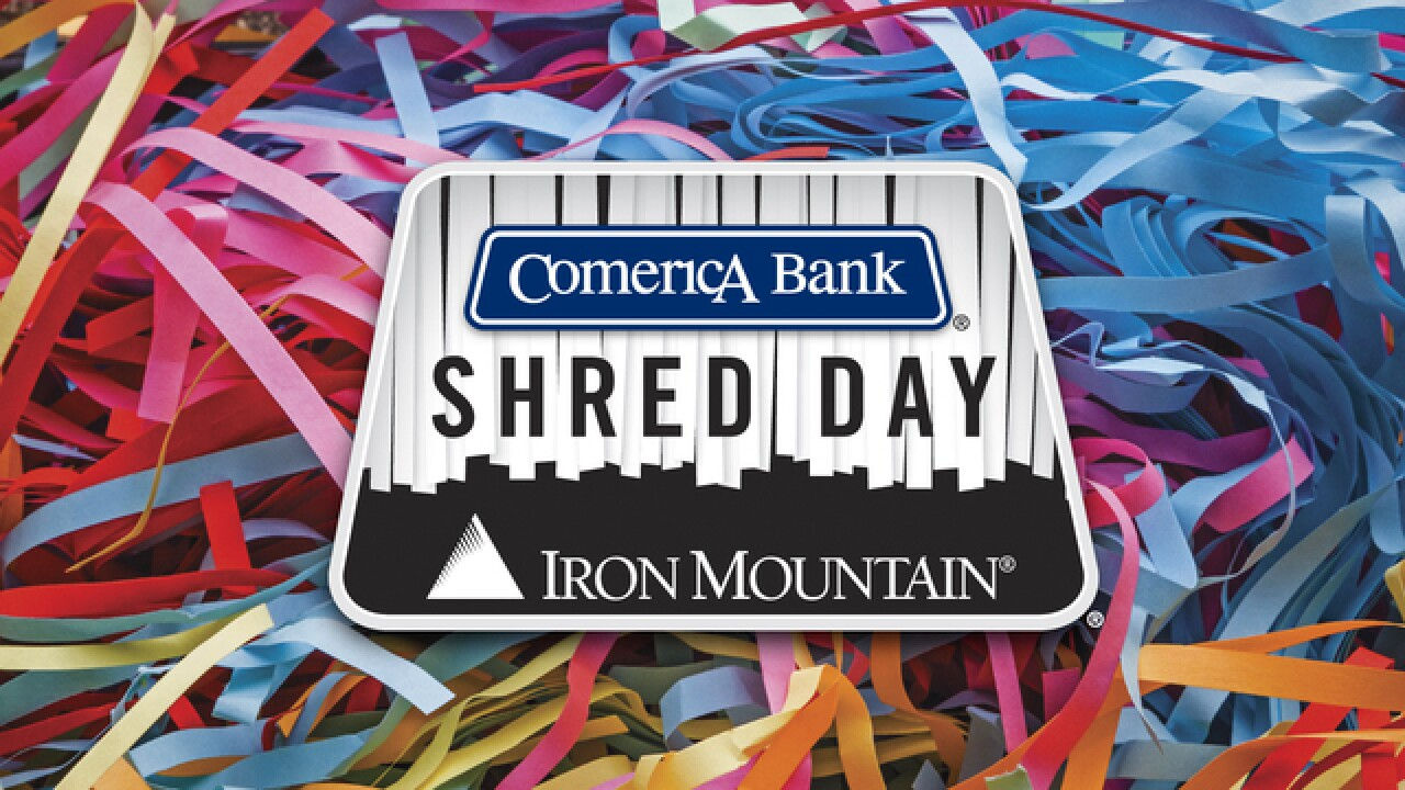 Get rid of personal documents, electronics for free at Comerica Shred Day
