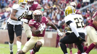 Florida State Seminoles running back Khalan Laborn in 2019