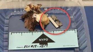Razor blade found in sandwich served to officer