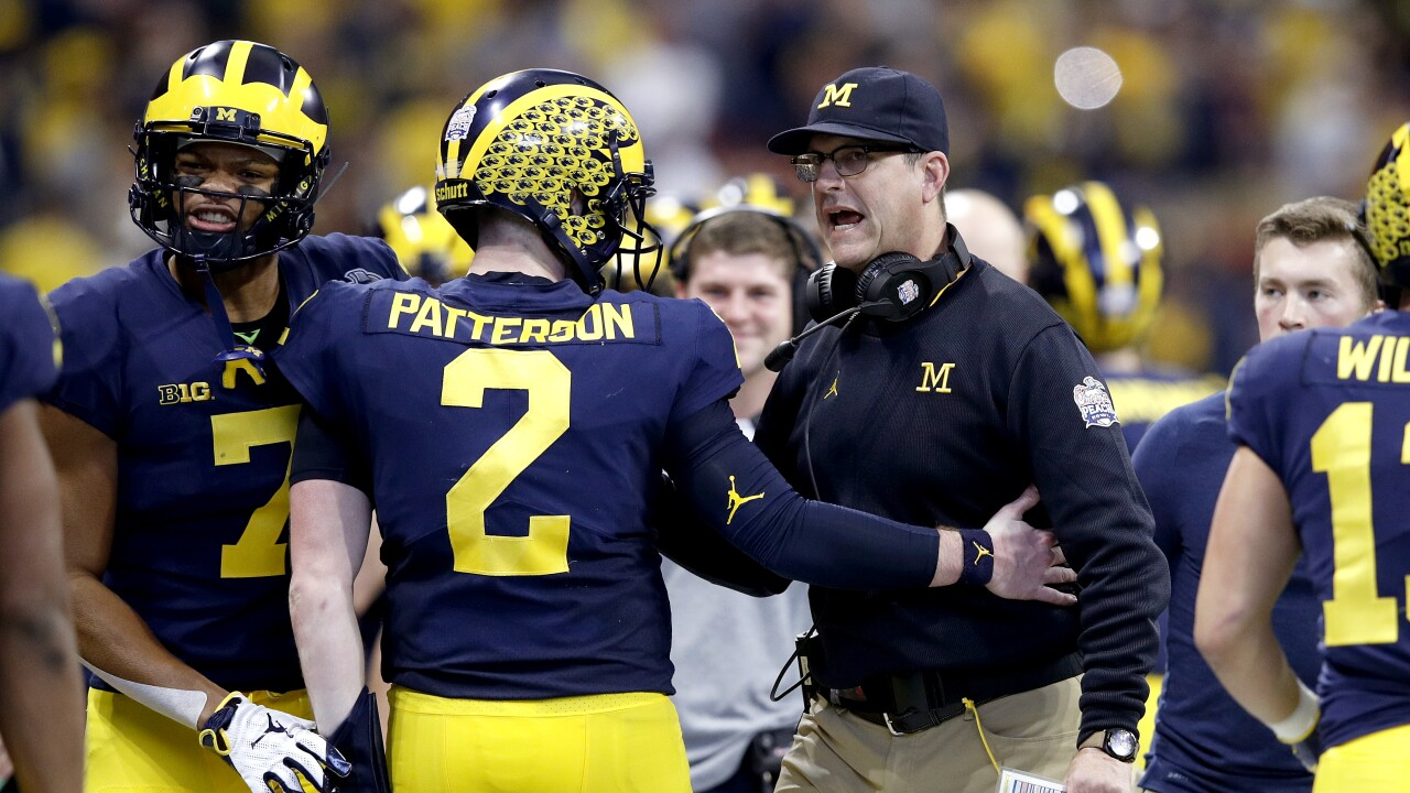 Shea PAtterson Jim Harbaugh