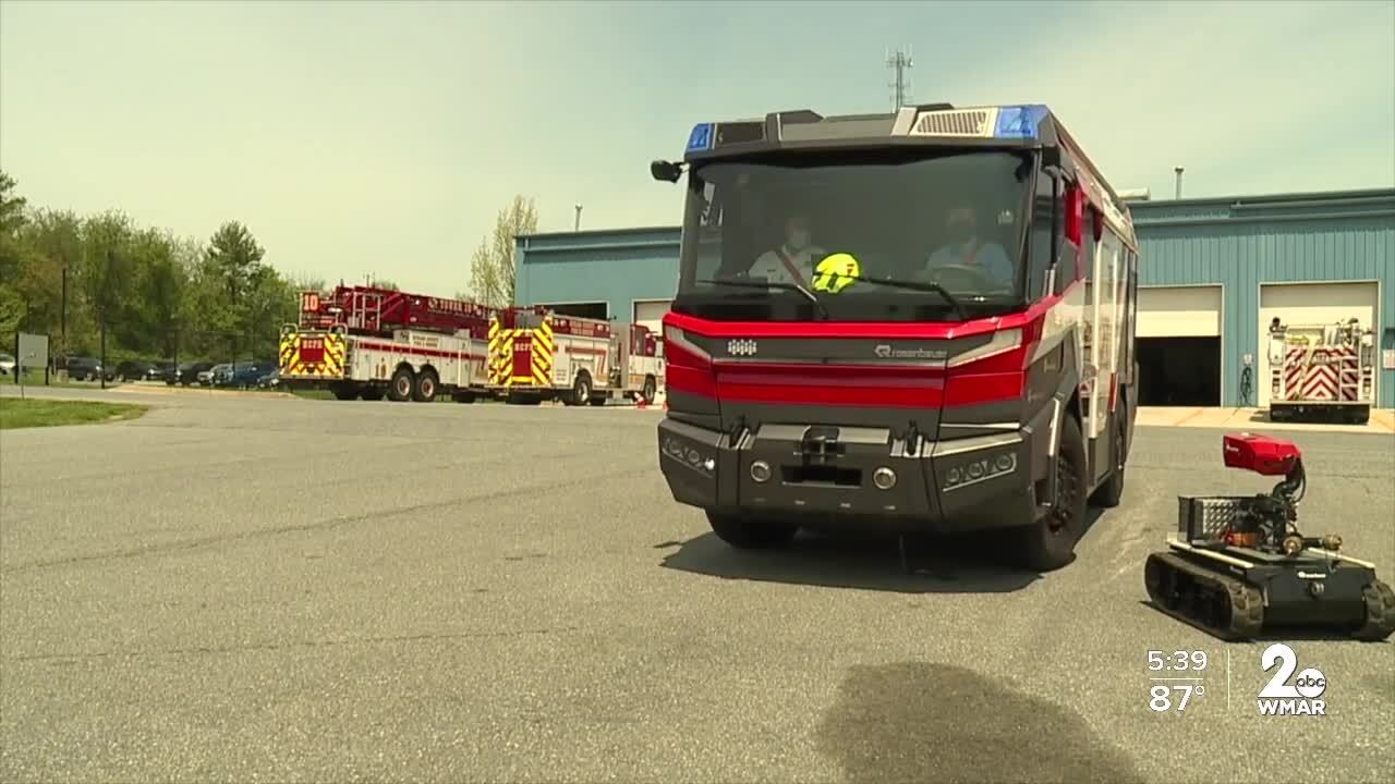 America's first electric fire truck stops in Maryland