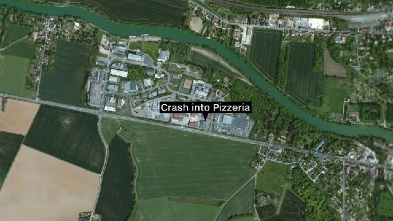 1 dead, 7 injured after car slams into French pizza restaurant