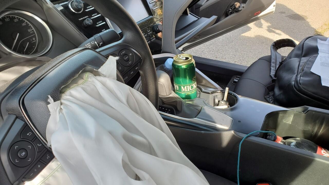 Interior of Suspect Car