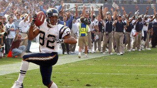 San Diego Chargers wide receiver Reche Caldwell in 2002