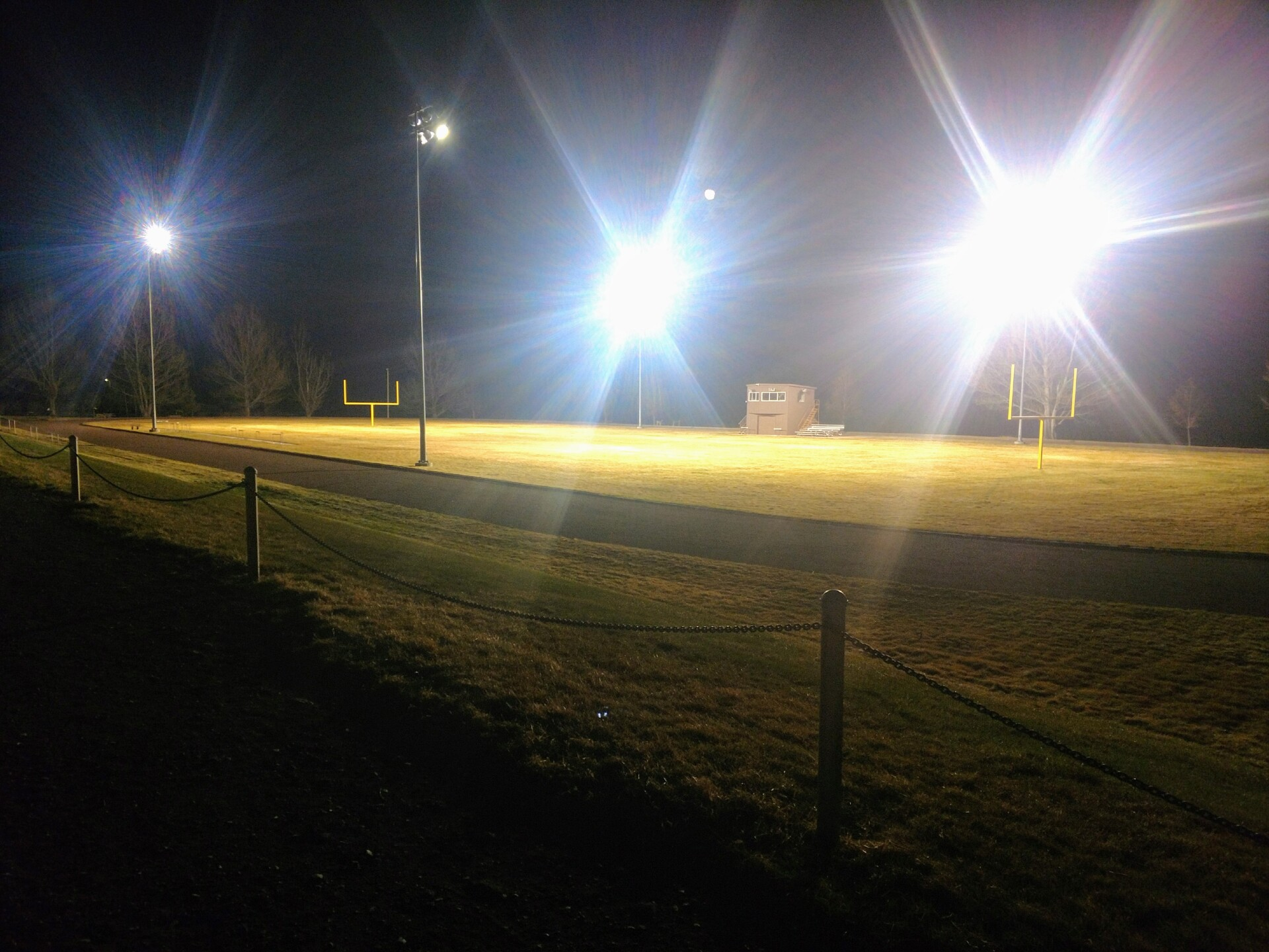 Highwood football stadium lights