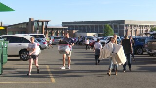 """Carroll College welcomes new students at residence hall """"Move-In Day"""""""