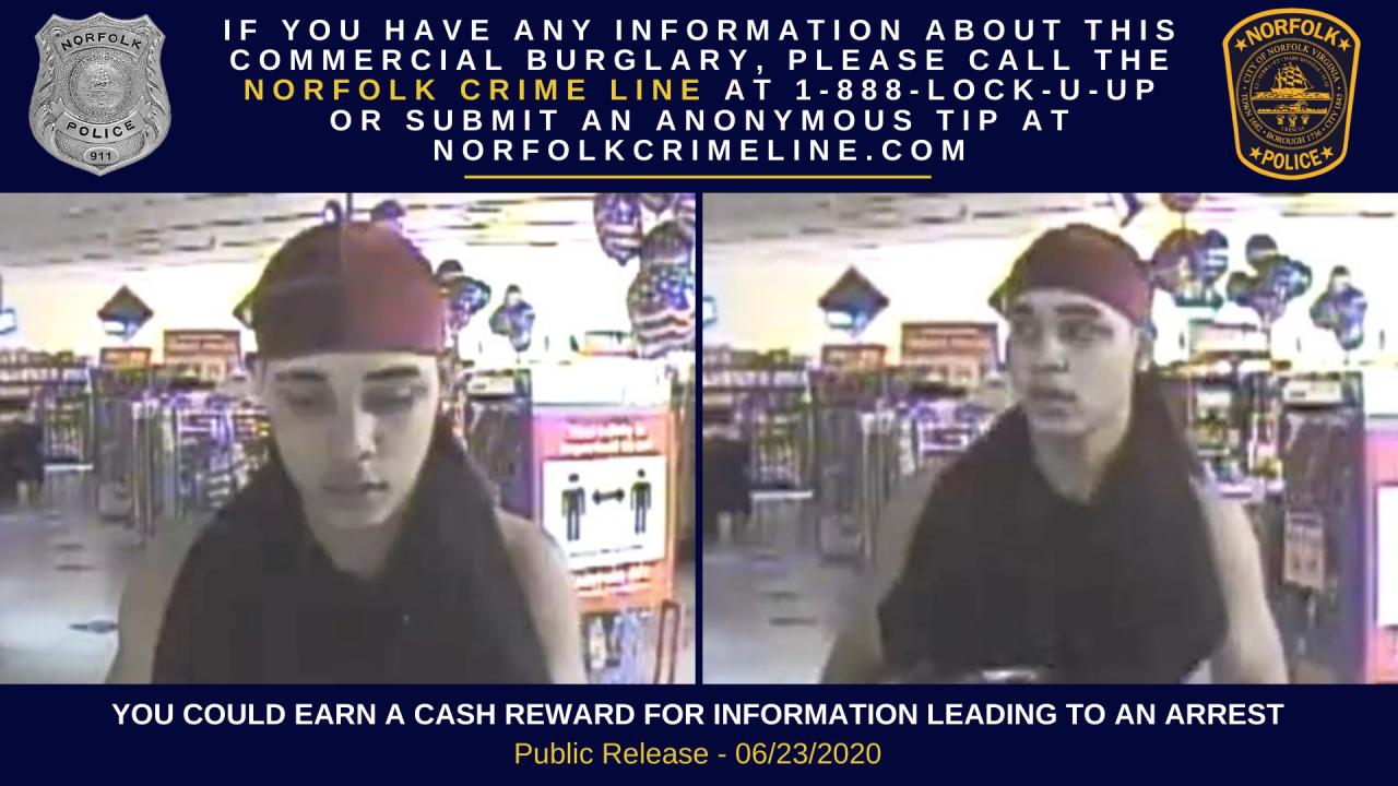 NF Chesapeake Boulevard Family Dollar burglary suspect (June 21).png