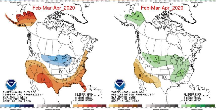 Three Month Outlook From NOAA: Climate Prediction Center