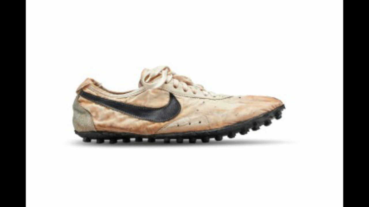 Nike's rare 'Moon Shoe' sells for $437,500, shattering auction record for sneakers