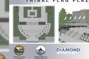 Tribal Flag Plaza construction begins at Montana Capitol