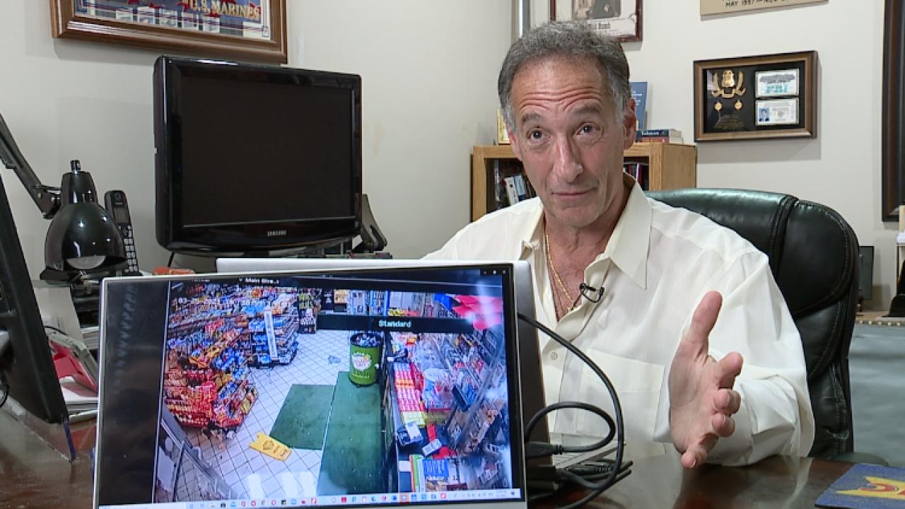 Michael Tabman analyzing video
