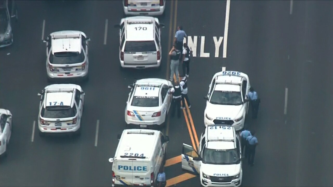Suspect firing at police prompts massive law enforcement response in Philadelphia