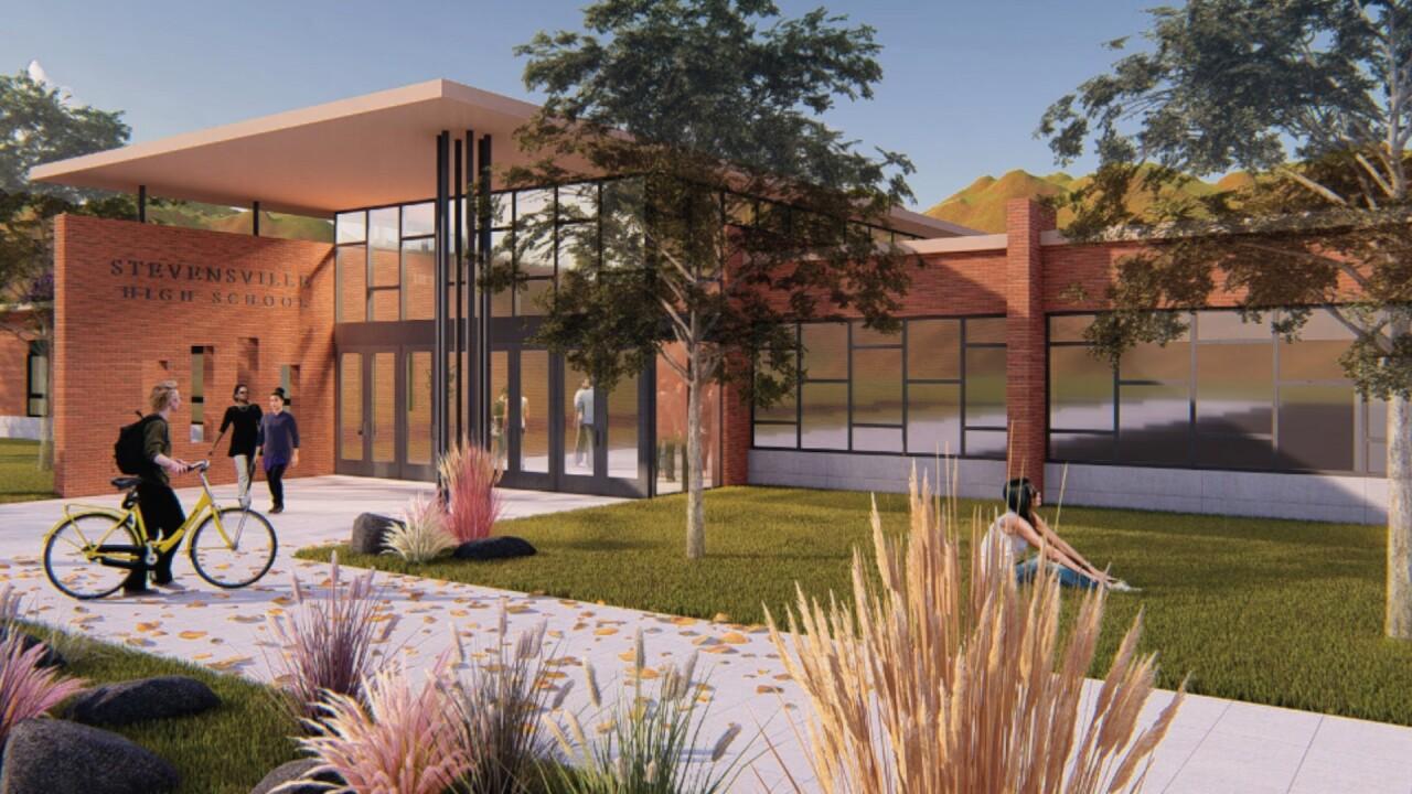 Stevensville HS renovation drawing