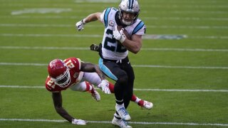 Panthers say McCaffrey not expected to play against Lions