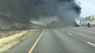 C470 semi crash Aug 29 2019