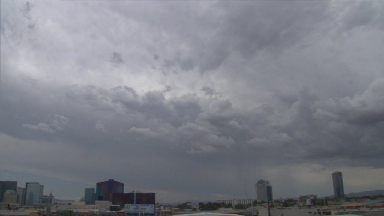Rain possible this afternoon in Las Vegas valley