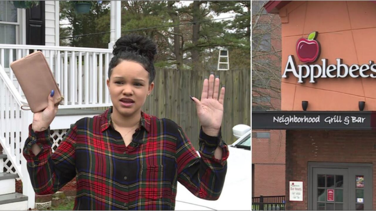 Applebee's hostess arrested for stealing from Chesterfield mom: 'She put her hands in theair'
