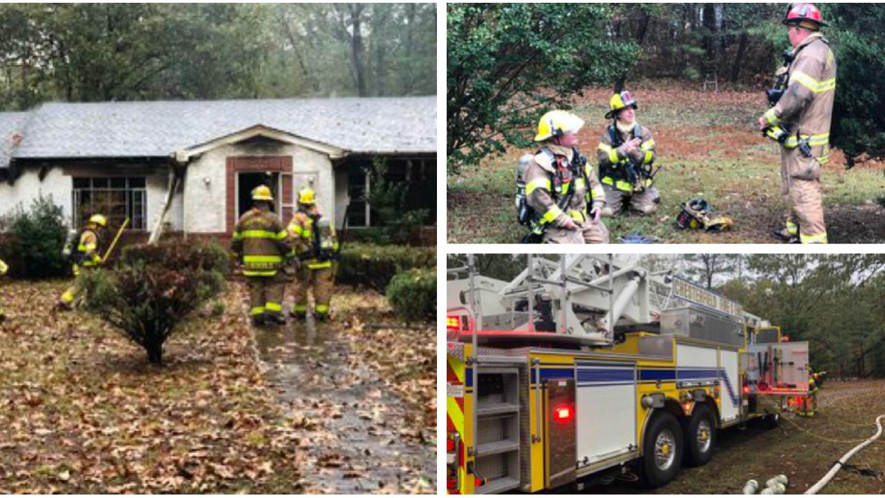 2 firefighters injured battling Chesterfield housefire