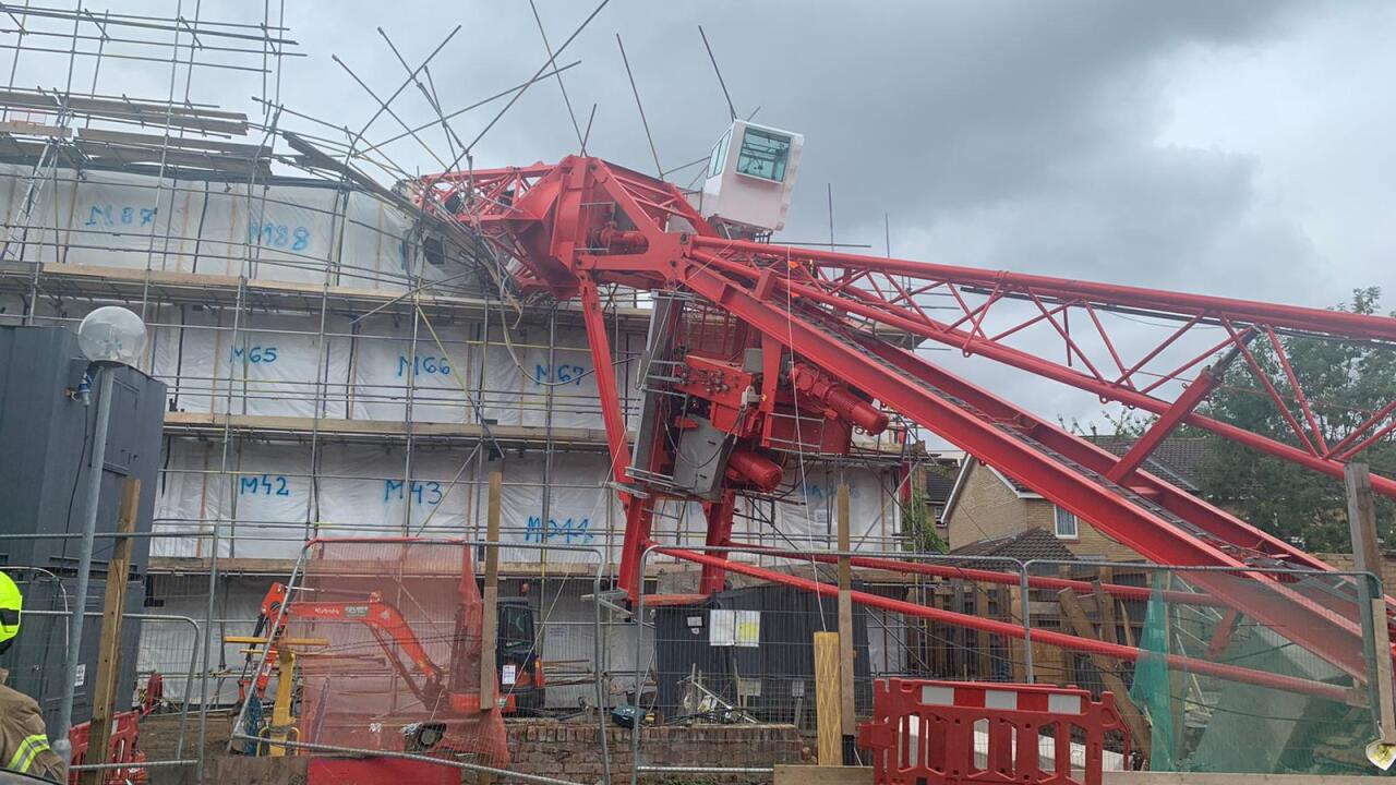 Search and rescue underway after 65-foot crane collapses in London