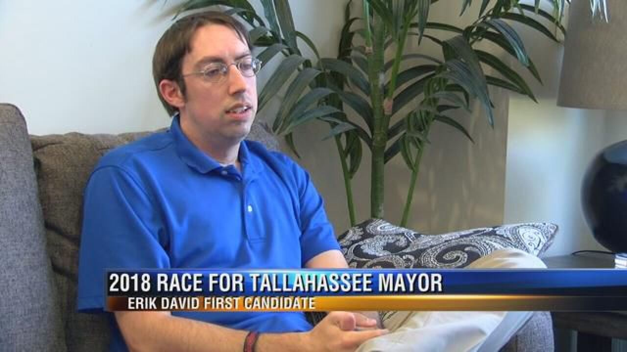Erik David Stops by WTXL Following Announcement of His Candidacy for Mayor
