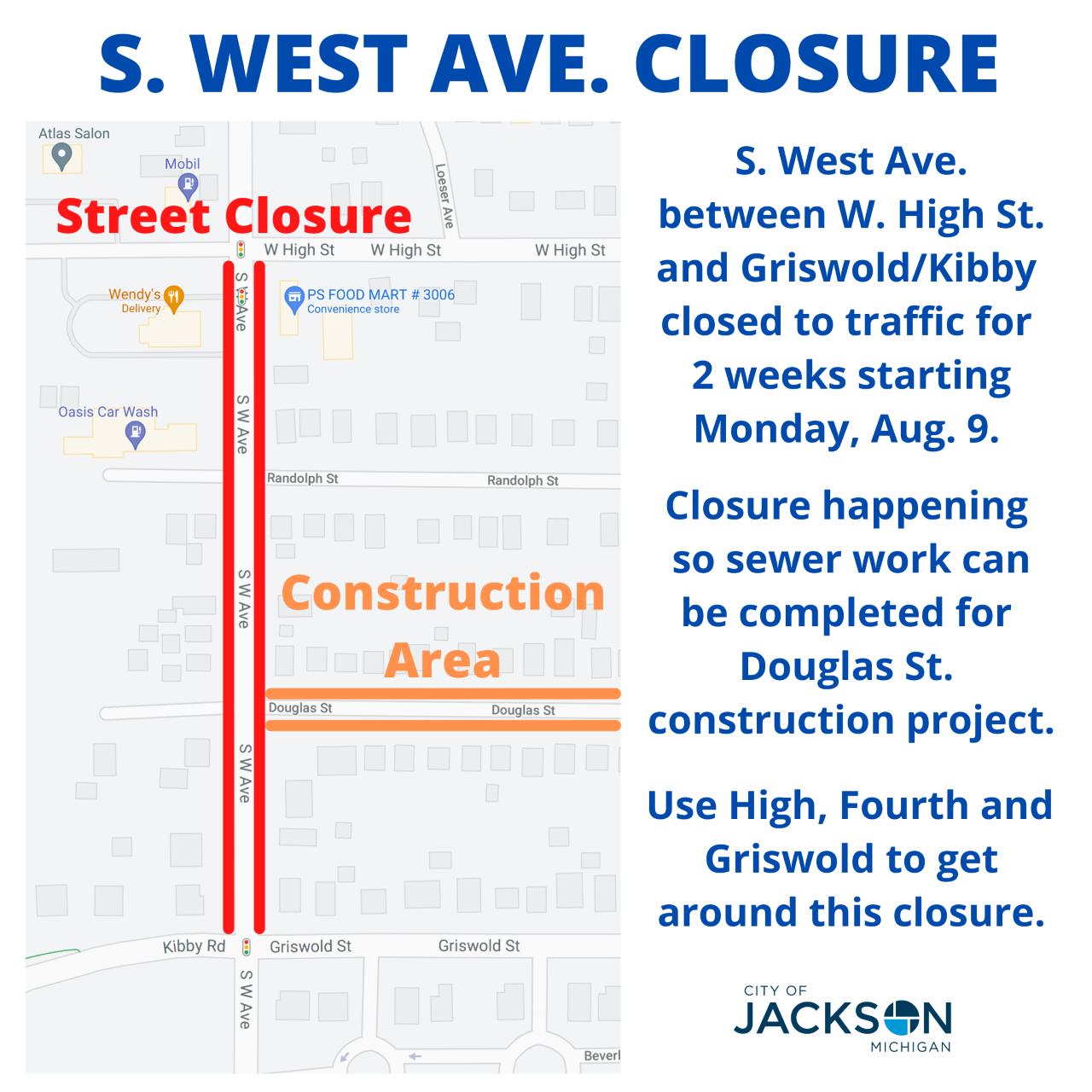 West Ave detour