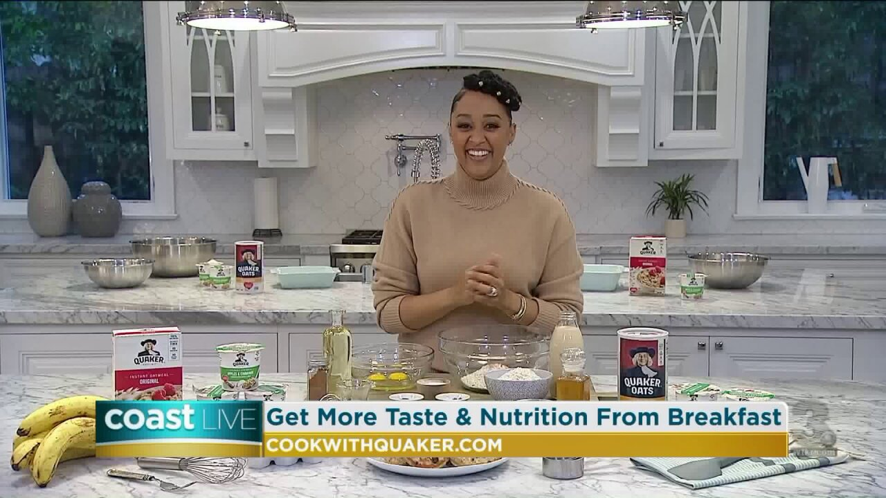 Talking breakfast with actress and cooking show star Tia Mowry-Hardrict on CoastLive