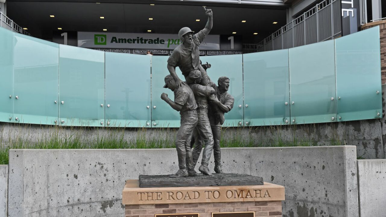 road to omaha statue cws