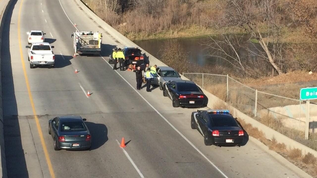 Man arrested after pursuit on I-84
