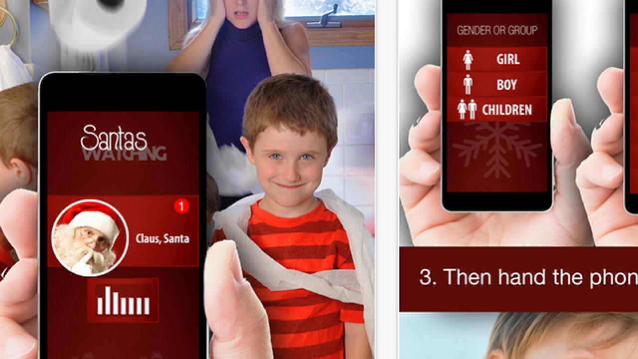 Santa's Watching app helps calm child temper tantrums