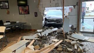 wayne township car crash into building.JPG