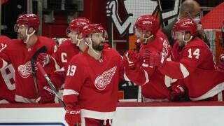 Sam Gagner Predators Red Wings Hockey