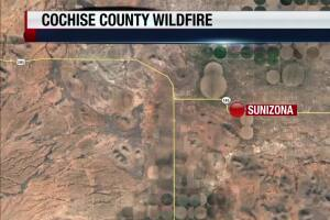 Cochise County wildfire shuts down intersections