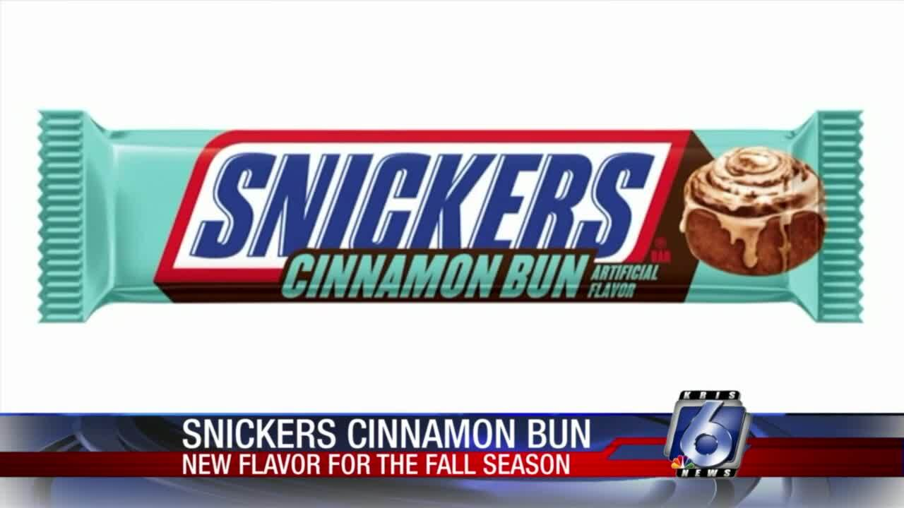 Cinnamon bun flavored Snickers will be available starting this month at Walmart