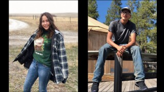 Celea Poitra, 19, and Gahge Whiteman, 17, were knocked off the Yellowstone River bridge on I-90 while trying to rescue a mother and two children from a car partially on the guard rail.