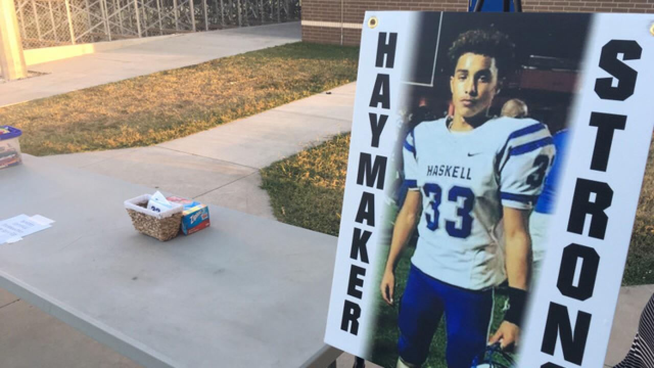 'Pray for Reuebn' event at Haskel football field