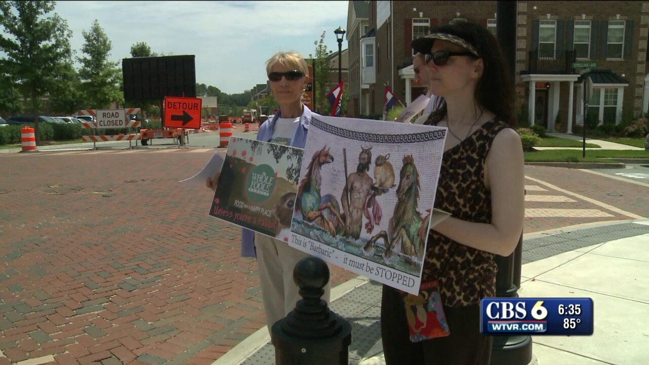 Whole Foods decision to sell rabbit meat brings out protesters