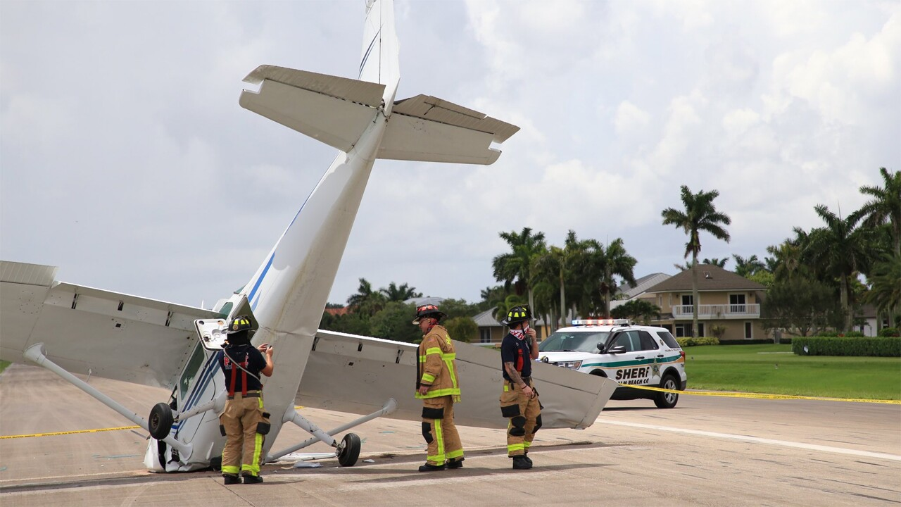 One person was injured Sunday in a single-engine airplane crash at the Wellington Aero Club.