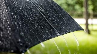Wx Raindrops on umbrella