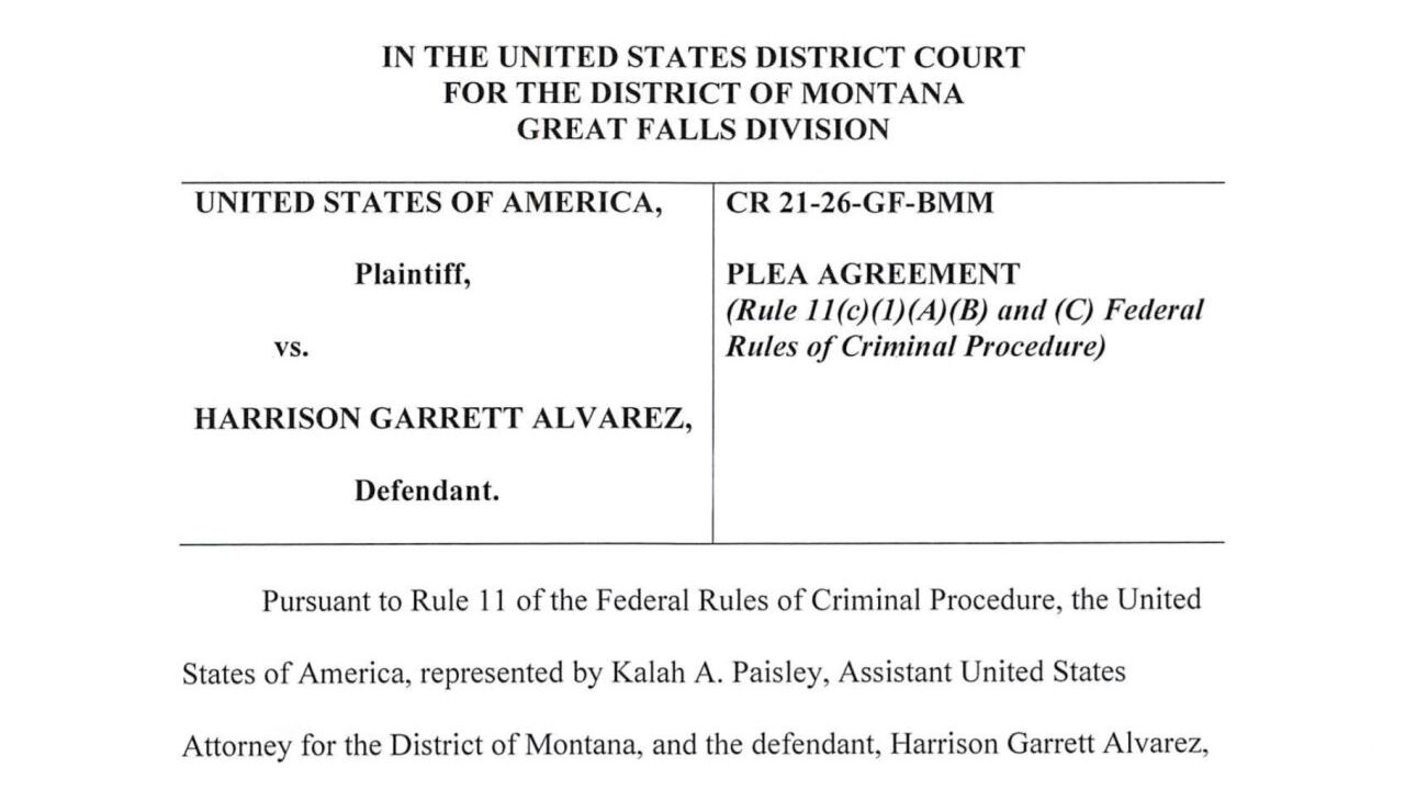 Harrison Garrett Alvarez of Cut Bank, an off-duty federal law enforcement officer accused of pointing an assault rifle at three Blackfeet tribal employees who were testing water on his property, admitted to assault charges in federal court in Great Falls