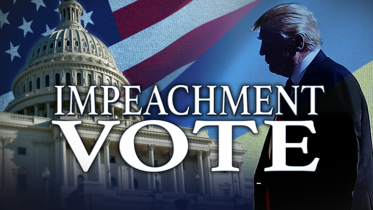 House of Representatives impeaches President Donald Trump