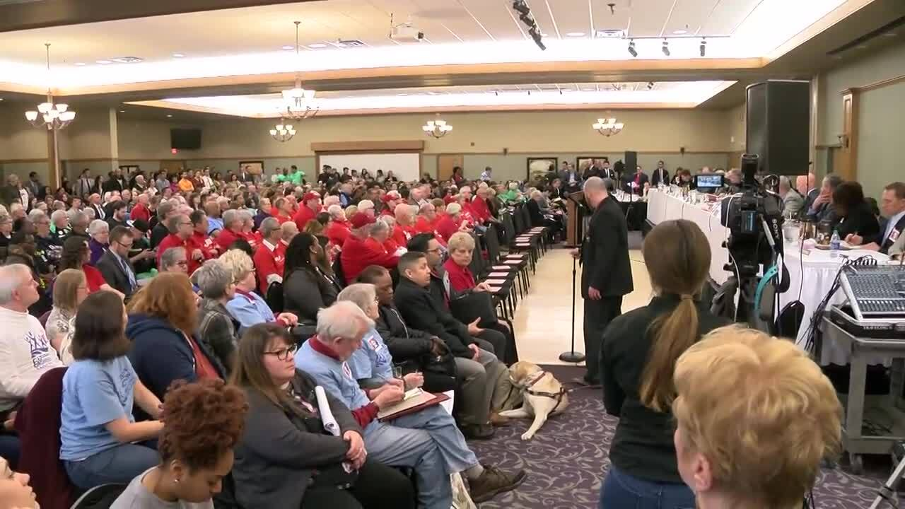Hundreds gather for Joint Finance Committee hearing on Gov. Tony Evers' budget