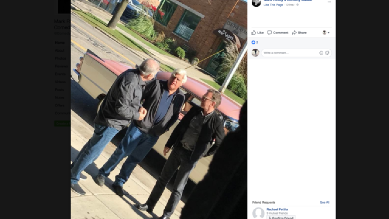 Jay Leno, Tim Allen spotted in Royal Oak filming show