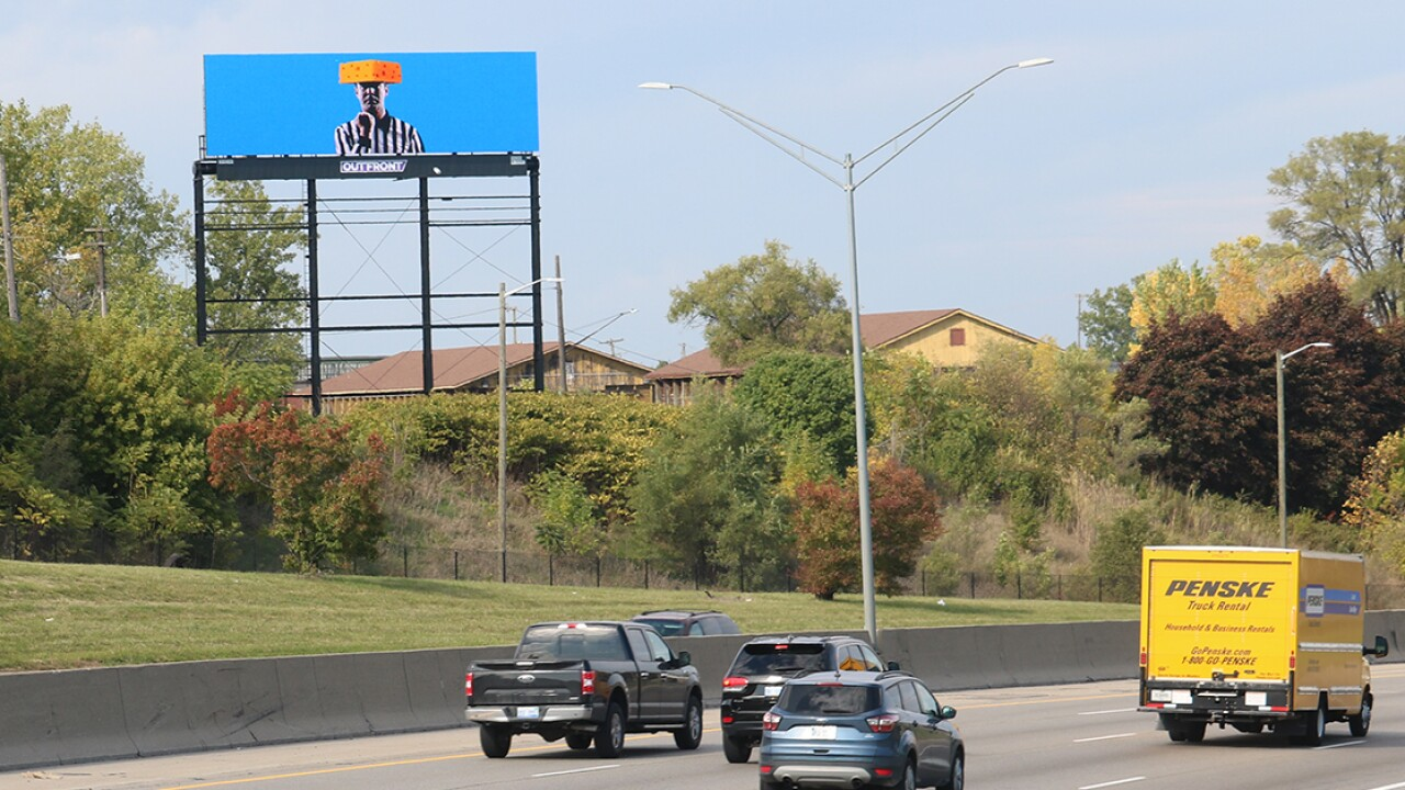 Anonymous Detroit Lions fans upset by Monday's game buy billboards featuring referee with cheesehead