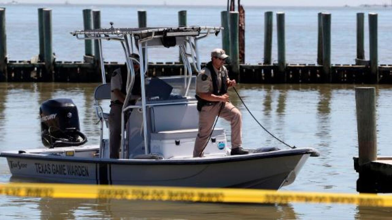A police chief is missing after he was knocked overboard from fishing boat in Texas