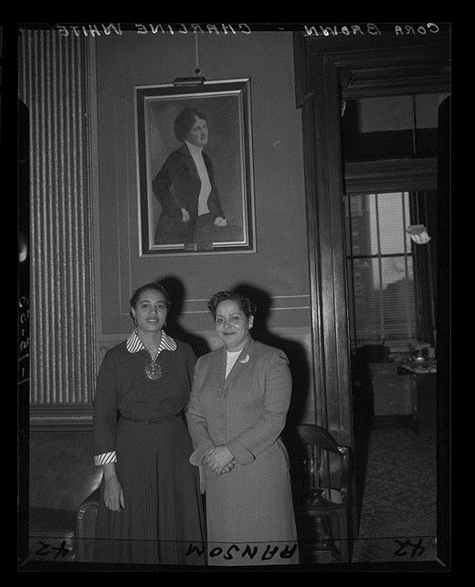 Sen. Cora Brown in Capitol Building