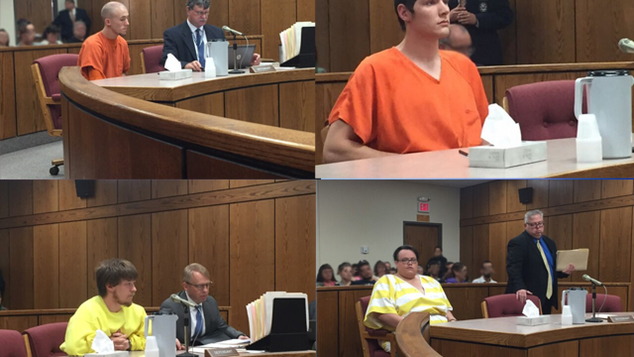 Murder suspects appear in court