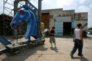 Blue Mustang Blucifer installment at DIA 2