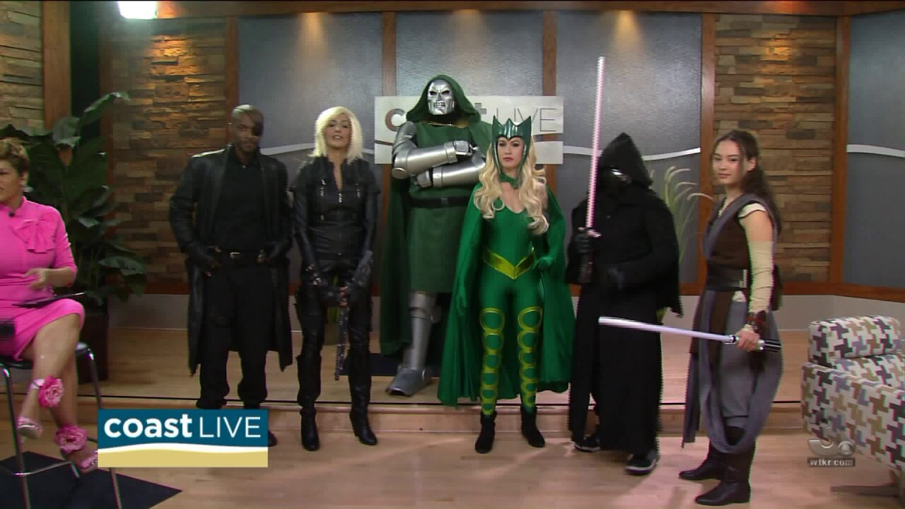 A cosplay preview of Tidewater Comicon on Coast Live