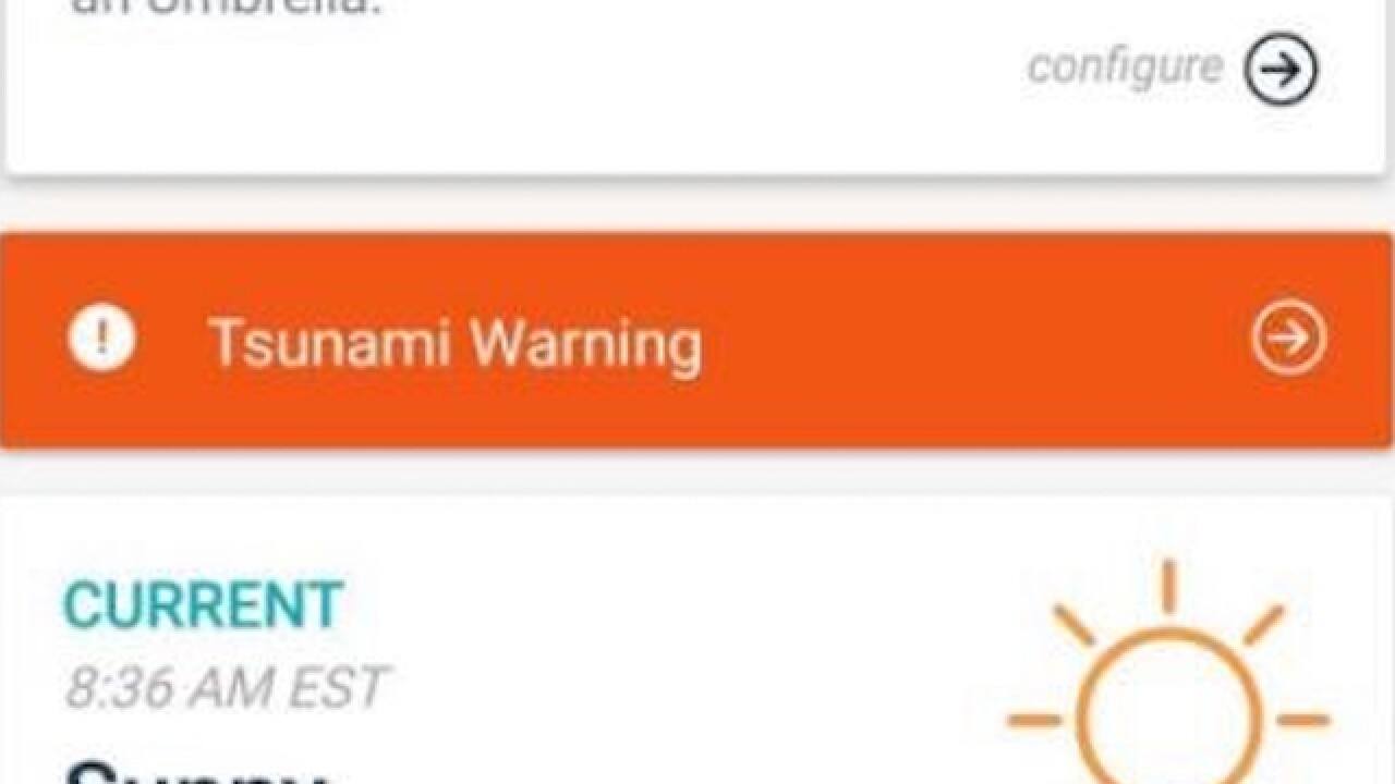 Tsunami warning for Florida was a test, NWS says